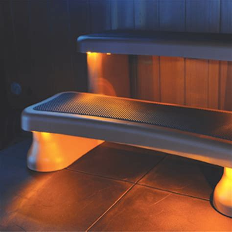 smart light solar powered step light for tubs and spas