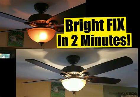 how to fix my ceiling fan 2 min fix for dim ceiling fan lights safe no wiring