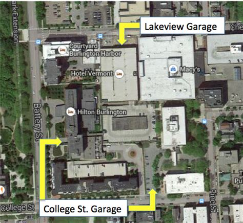 parking garage near battery park burlington vt parking garage rates for lakeview and