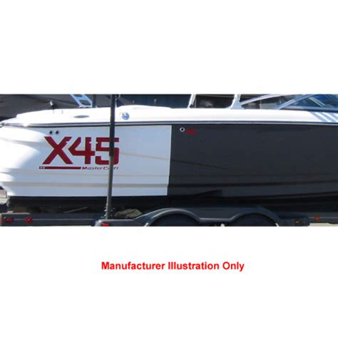 Boat Hull Decals by Mastercraft 2006 X 45 Model Pro Tour Vinyl Boat Hull