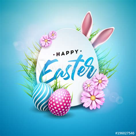 vector illustration  happy easter holiday  painted