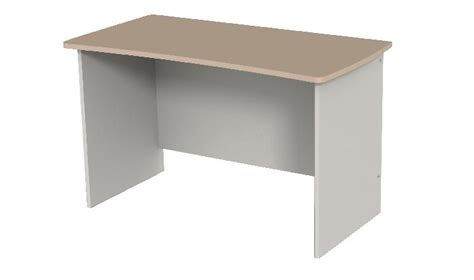 bureau 120x60 table bureau curve arès simple 120x60 cm côté gris