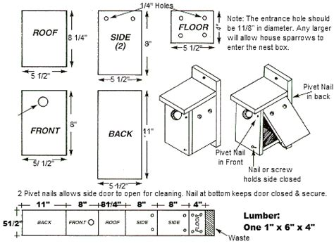 woodwork birdhouse plans wrens plans