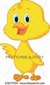 Clipart of Cute baby chicken cartoon k16177431 - Search ...