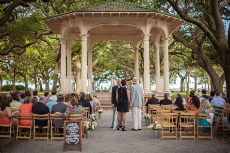 charleston outdoor wedding ceremony location gazebo white