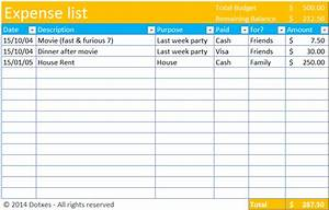 expense list template dotxes With list of household expenses template