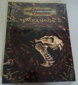 Dungeon And Dragons 3 5e  Monster Manual Iii  Hardcover  D