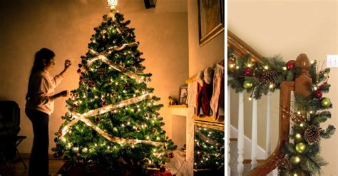 festive ways  decorate  stairs  christmas