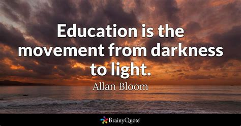 education   movement  darkness  light allan