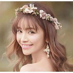 Couronne De Fleurs Cheveux Mariage : couronne de fleurs achat vente couronne de fleurs pas cher les soldes sur cdiscount ~ Farleysfitness.com Idées de Décoration