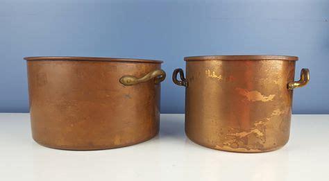 vintage copper cooking pot copper cookware copper kitchenware farmhouse french decor vintage