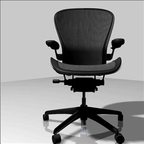 3d model herman miller aeron office chair