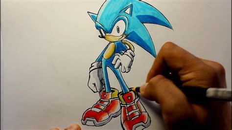 wie zeichnet man sonic  hedgehog youtube