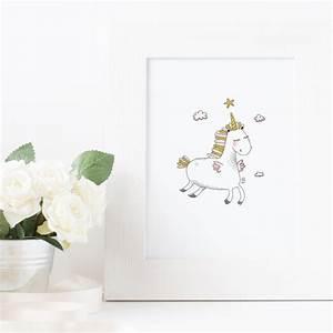 Decoration Licorne Chambre : affiche licorne d coration chambre les petits brins d 39 isabelle ~ Teatrodelosmanantiales.com Idées de Décoration