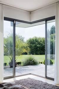 Porte Coulissante Angle Droit : bloc coulissant galandage d 39 angle an aluminium d 39 initial ~ Melissatoandfro.com Idées de Décoration