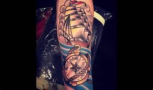 Tatouage Arriere Bras : top 50 des plus beaux tatouages de boussole ~ Melissatoandfro.com Idées de Décoration