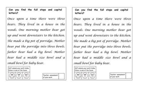 full stops and capital letters detectives by ruthbentham teaching resources