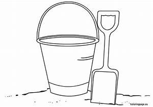 bucket and shovel coloring page summer pinterest With sand bucket template