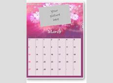 Cool calendar templates with spot for your own photo