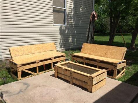 diy simple pallet patio furniture pallet furniture plans
