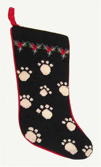 Stocking Christmas Paw Dog Stockings Needlepoint Dogs