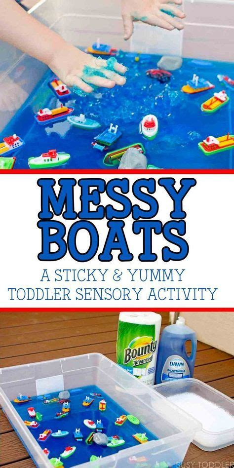 messy boats sticky yummy toddler play toddler