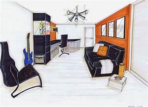 Deco Chambre Ami : am nagement d 39 une maison sur plan 91 bureau chambre d 39 amis 2 pinkspace audrey clain ~ Melissatoandfro.com Idées de Décoration