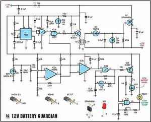How To Build 12 Volt Battery Guardian Circuit