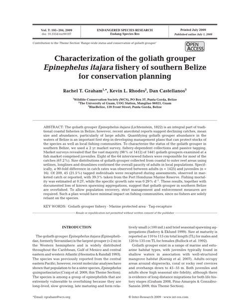 goliath status range conservation epinephelus itajara grouper introduction wide