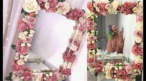 diy floral mirror tutorial youtube   diy floral