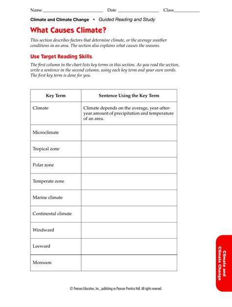 Easy Climate Change Worksheet Goodsnyccom