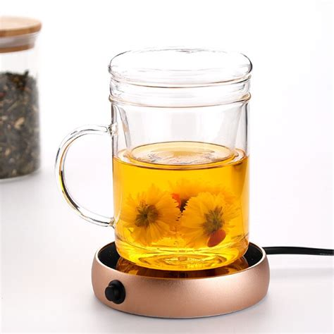 Not does it only holds your drink but it keeps it warm all the time. Portable Electric Heating Coaster Desktop Coffee Milk Tea ...