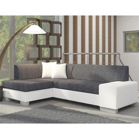 canape blanc et gris canapé d 39 angle avec lit d 39 appoint gris et blanc en tissu et pu