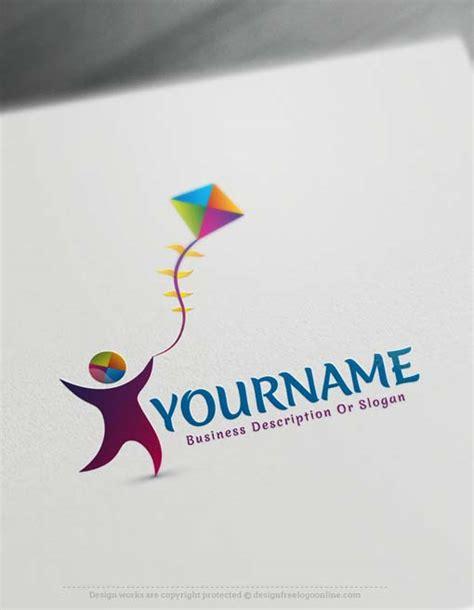 logo maker software  kids kite logo design