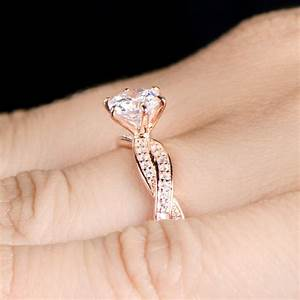 vintage rose gold diamond ring hd unique engagement rings With rosegold wedding rings