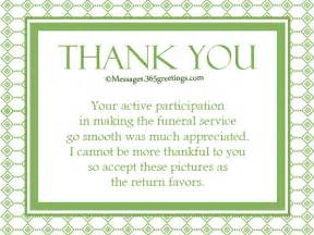 Thank You Card Messages for Funeral