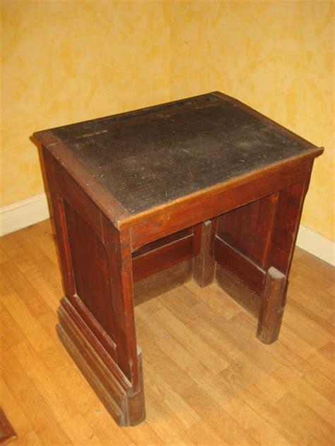 bureau en bois ancien pupitre écolier occasion clasf