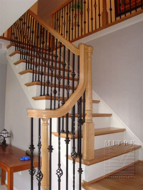 Banister And Baluster by Oak Stair Railings Iron Balusters 2 Family Room Decor