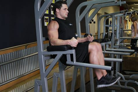Chair Leg Raises Bodybuilding by Knee Hip Raise On Parallel Bars Exercise Guide And