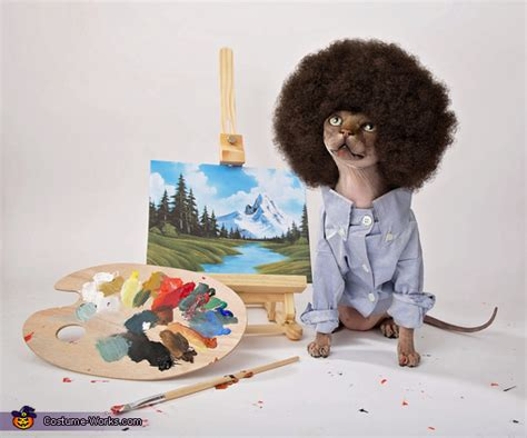 Bob Ross Painting Happy Little Trees