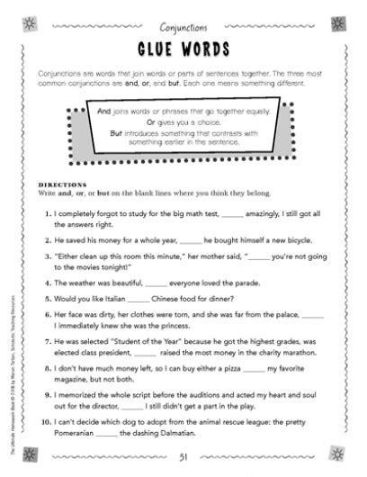 conjunctions worksheets 3rd grade worksheets for all