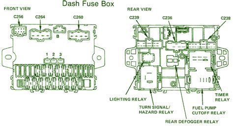 Honda Accord Fuse Diagram For 1992 by 1987 Honda Accord Lx Dash Fuse Box Diagram Auto Fuse Box
