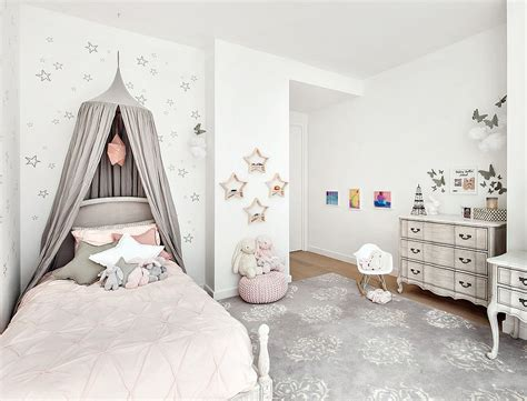 chambre shabby chic 39 bedroom in light pink gray and white decoist