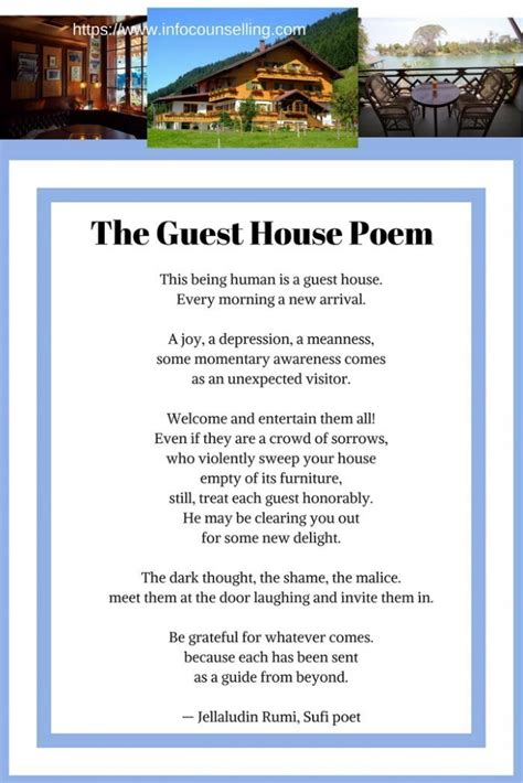 the guest house the guest house poem by rumi the guest house rumi poem