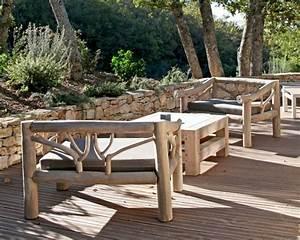 Meuble En Bois Flotté : mobilier de jardin en bois massif ~ Preciouscoupons.com Idées de Décoration