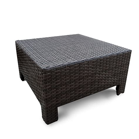 Wicker Settee Set by Outt Outdoor Patio Furniture Settee Ottomans Set 3pc