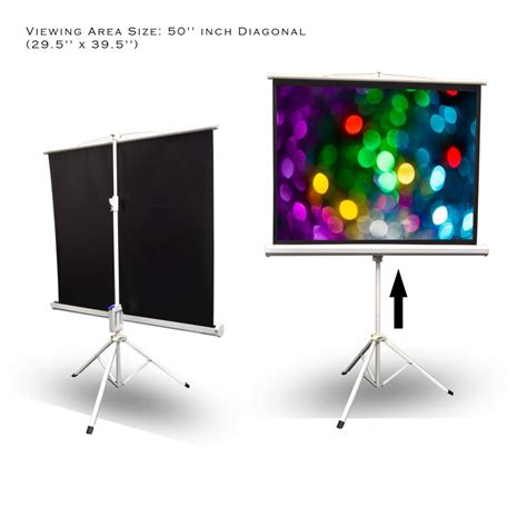 roll projector screen pyle prjtp52 50 inch projector screen easy fold 7509