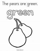 Coloring Green Pears Noodle Twisty Built California Usa Print Twistynoodle sketch template