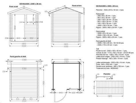 plan maisonnette de jardin en bois