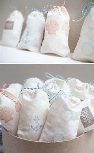 how to easily make diy stamped muslin bags salt water With salt water taffy wedding favors